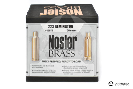 Bossoli Nosler Brass calibro 223 Remington – 50 pezzi #10070