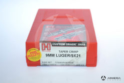 Dies Hornady Taper Crimp calibro 9mm Luger - 9x21 - 3 Die Set - titanium nitride - #546516 -0