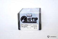Palle Nosler E-Tip Expansion calibro 270 - 130 grani - 50 pezzi #59298 modello