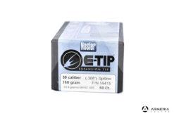 Palle Nosler E-Tip Expansion calibro 30 - 168 grani - 50 pezzi #59415 modello