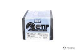 Palle Nosler E-Tip Expansion calibro 30 - 180 grani - 50 pezzi #59180 modello