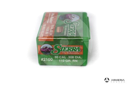 Palle Sierra Pro Hunter calibro 30 .308 dia – 110 gr grani RN – 100 pezzi #2100 mod