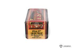 "Palle ogive Barnes TSX calibro 270 .277"" – 130 gr grani TSX BT - 50 pezzi #30264 mod"