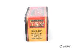 Palle ogive Barnes TSX calibro 30 – 150 grani TSX BT - 50 pz #30347