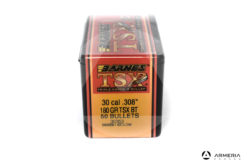 "Palle ogive Barnes TSX calibro 30 .308"" – 180 gr grani TSX BT - 50 pezzi #30353 mod"