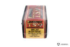 "Palle ogive Barnes TSX calibro 6 mm .243"" – 85 gr grani TSX BT - 50 pezzi #30212 mod"