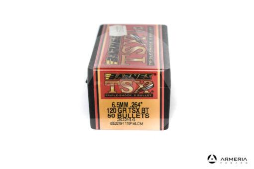 "Palle ogive Barnes TSX calibro 6.5 mm .264"" – 120 grani TSX BT - 50 pezzi #30244 mod"
