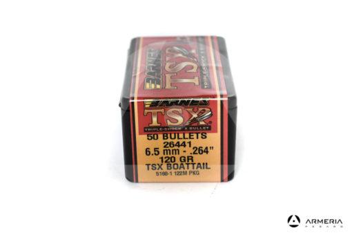 "Palle ogive Barnes TSX calibro 6.5 mm .264"" – 120 grani TSX BT - 50 pezzi #30244 ex"
