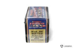 "Palle ogive Barnes Tipped TSX calibro 30 .308"" – 180 grani TTSX BT - 50 pezzi #30372 mod"