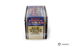 Palle ogive Barnes Tipped TSX calibro 30 mm .308″ – 150 grani TTSX BT – 50 pezzi #30366 mod