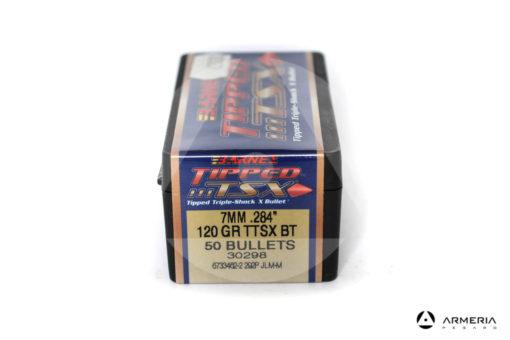 "Palle ogive Barnes Tipped TSX calibro 7 mm .284"" – 120 grani TTSX BT - 50 pezzi #30298 mod"