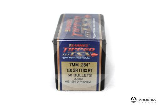 "Palle ogive Barnes Tipped TSX calibro 7 mm .284"" – 150 grani TTSX BT - 50 pezzi #30303 mod"