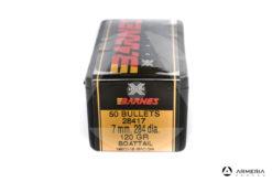 Palle ogive Barnes calibro 7 mm .284 dia. – 120 gr grani Boattail - 50 pezzi #28417 mod