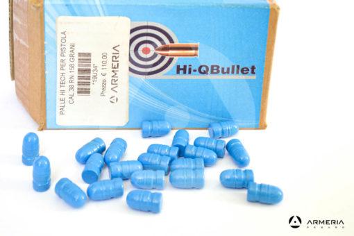Palle ogive Hi-Q Bullet calibro 38 RN-BB - 158 grani - 250 pezzi