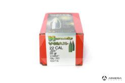 Palle ogive Hornady V-Max calibro 22 .224″ – 55 gr grani V-Max – 250 pezzi - #22716 mod