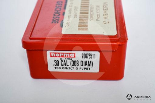 Palle ogive Norma Precision calibro 30 .308 - 150 grani FJPBT - 100 pezzi modello