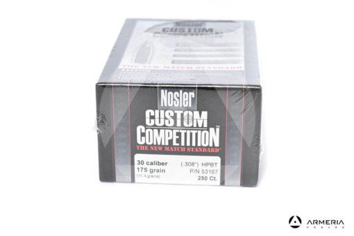 Palle ogive Nosler Custom Competition calibro 30 - 175 grani - 250 pezzi #53167 modello