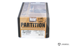 Palle ogive Nosler Partition calibro 30 .308″ – 180 grani – 50 pezzi #16331 modello