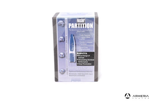 "Palle ogive Nosler Partition calibro 7mm .284"" - 140 grani – 50 pezzi #16325"