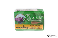 Palle ogive Sierra MatchKing calibro 30 .308 dia – 150 gr grani HPBT – 100 pezzi #2190