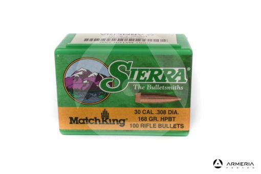 Palle ogive Sierra MatchKing calibro 30 .308 dia – 168 gr grani HPBT – 100 pezzi #2200