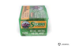 Palle ogive Sierra MatchKing calibro 30 .308 dia – 168 gr grani HPBT – 100 pezzi #2200 mod