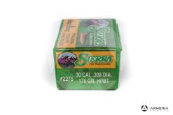 Palle ogive Sierra MatchKing calibro 30 .308 dia – 175 gr grani HPBT – 100 pezzi #2275 mod