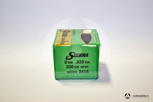 Palle ogive Sierra Matchking calibro 8 mm .323 DIA. - 200 grani HPBT – 100 pezzi #2415 -1