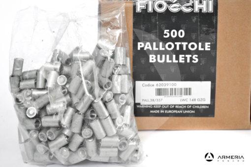 Palle ogive per pistola Fiocchi calibro 38 / 357 LWC 148 grani - 500 pezzi