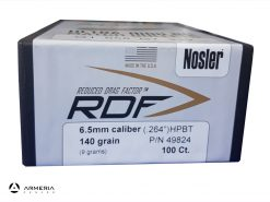 Palle Nosler RDF calibro 6.5 da 140 grani
