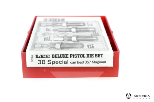 Dies Lee Deluxe Pistol calibro 38 special - 4 dies - can load 357 Magnum - Shell Holder omaggio