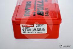 Palle ogive Norma Precision calibro 9.3 mm .365 - 232 grani ORIX - 100 pezzi modello