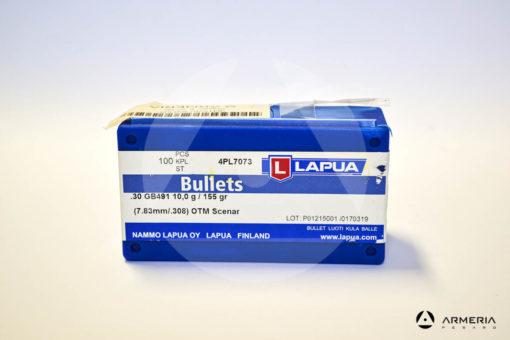 Palle ogive Lapua OTM Scenar calibro 30 .308_ - 155 grani - 100 pezzi vista 1