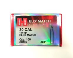 Palle Hornady ELD Match cal. 30 - 168 gr grani .308 - 100 pezzi modello