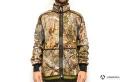 Giacca reversibile in Pile Browning Power Fleece verde taglia M