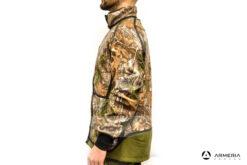 Giacca reversibile in Pile Browning Power Fleece verde taglia M lato