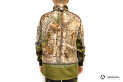 Giacca reversibile in Pile Browning Power Fleece verde taglia M retro