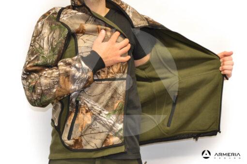 Giacca reversibile in Pile Browning Power Fleece verde taglia M verso