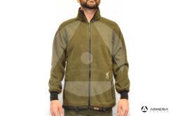Giacca reversibile in Pile Browning Power Fleece verde taglia M verso verde