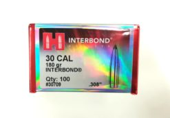 Palle Hornady Interbond cal. 30 - 180 gr grani .308 - 100 pezzi modello