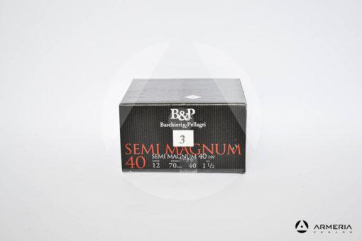 B&P Baschieri e Pellagri Semimagnum 40 HV calibro 12 - Piombo 3 - 25 cartucce modello