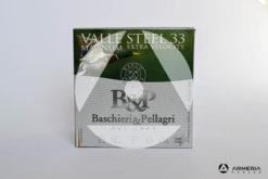 B&P Baschieri e Pellagri Velle Steel 33 Magnum Extra Velocity calibro 12 - Piombo 4 - 25 cartucce