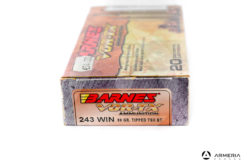 Barnes VOR-TX Ammunition calibro 243 Win 80 grani Tipped TSX BT 20 cartucce