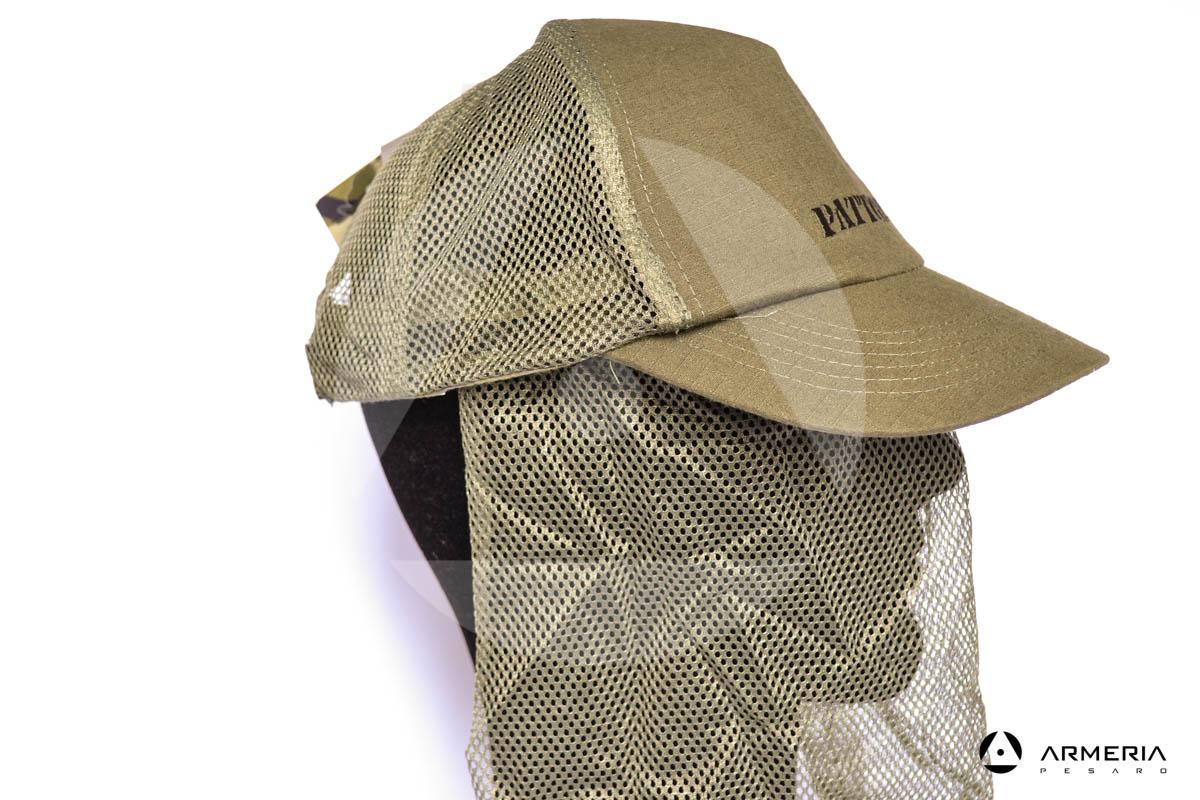 Cappello berretto Patton in cotone con retina anti insetti taglia L 59 cm