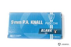 Cartucce a salve Fiocchi calibro 9mm P.A. Knall - 50 pezzi