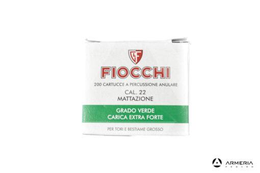 Cartucce a salve per mattazzione Fiocchi Green Extra Strong calibro 22 - 200 pezzi