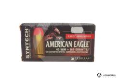 Federal Syntech American Eagle calibro 40 S&W - 165 grani TSJ - 50 cartucce