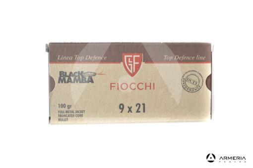 Fiocchi Linea Top Defence Black Mamba calibro 9x21 FMJ 100 grani