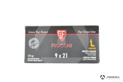Fiocchi Linea Top Target calibro 9x21 RNCP 124 grani - 50 cartucce