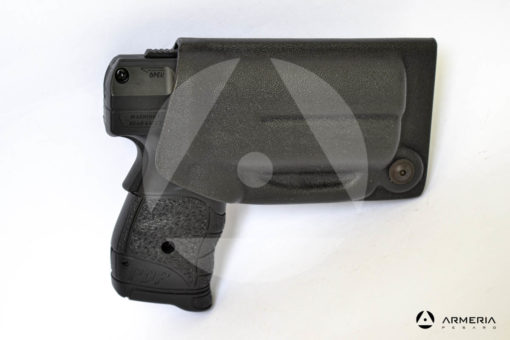 Fondina Vega Holster nera per pistola di difesa personale Umarex Walther PDP Pro Secur